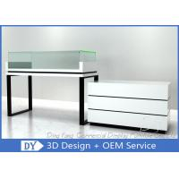Cheap White Jewelry Display Cases , Retail Glass Wooden Jewellery Display Cabinets for sale