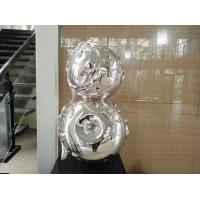 Quality Contemporary Art Stainless Steel Sculpture , Metal Garden Statues Sculptures wholesale