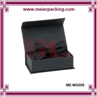 China Matte Black Gift Box with Bow/Magnetic Cardboard Paper Packaging Presentation Box ME-MG009 on sale