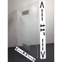 Cheap 8.5x11 Vertical Horizontal clear acrylic Sign Holder With Adhesive Tape,OEM 8.5*11 wall amount sign holder for sale