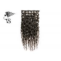 Quality Kinky Curly Long Real Clip In Human Hair Extensions Black Color Natural Looking wholesale