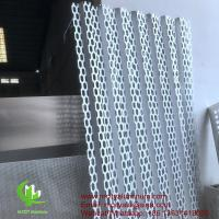 China PVDF Metal aluminum perforated bending panel used for building exterior on sale