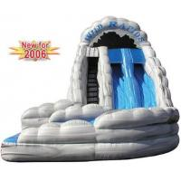 Quality inflatable wildrapids water slide,outside sliding lane is 35 feet long wholesale
