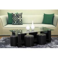China Glass and PVC coffee table on sale