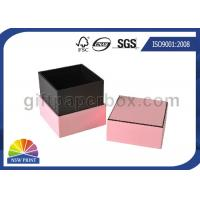 China Hard Cover Cardboard / Kraft Paper Jewelry Boxes , Pink Luxury Small Jewelry Box on sale