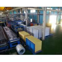 China Foaming Sandwich Panel Production Line  With PU Forming Density 40 kg / m3 on sale