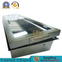 China Pure Metal Iron Single layer Poker Table Chips Float 1 Lock 14g Mixing Gambling Chips Case on sale