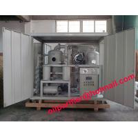 China High Voltage Double Staged Vacuum Transformer Oil Regeneration and Degassing System on sale