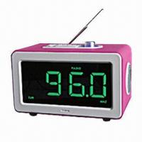 China LED Clock with FM Radio and SD/USB Slot on sale