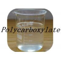 Quality Transparent Pale Yellow Polycarboxylate Concrete Admixtures / Concrete Polymer Additives wholesale