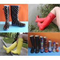 Quality New Fashion Rubber Rain Boots, Rubber Boots, Women Printing Rain Boots wholesale