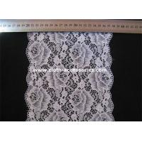 China Polyester Cord Stretchy Lace Fabric Comfortable For Lingerie Trimmings on sale