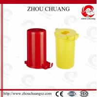 Cheap ZC-M31 Polystyrene Plastic Gas Cylinder Lockout, One Padlock Can Be Applied for sale