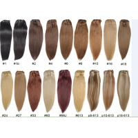 China Unprocessed Colored Human Hair Extensions , Colored Hair Weave on sale