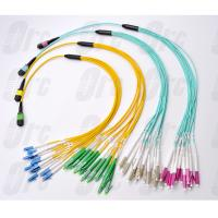 Cheap MPO / APC / F - LC Breakout Fiber Optic Cable , Low Loss Optical Breakout Cable for sale