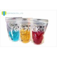 China Transparent Beverage Plastic Stand Up Pouches Packaging Food Grade on sale