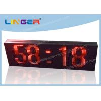 Cheap LED Scrolling Message Sign / Electronic Clock Display 2 Years Warranty for sale