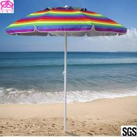 Quality Promotional colourful sandy beach umbrella , sun beach umbrella made in China with best price wholesale