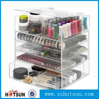 Quality NEW! DELUXE MAKEUP ORGANIZER - ACRYLIC 5 TIER DRAWER COSMETIC DISPLAY CASE wholesale