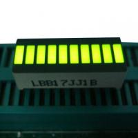 Quality Yellow 10 LED Light Bar , Big 10 Segment Led Display 25.4 x 10.1 x 7.9mm wholesale