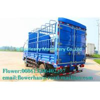 Quality HOWO Light Duty Commercial Trucks / Mini Stake Cargo Truck Blue for sale