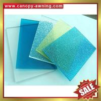 China high quality solid polycarbonate roofing PC sheet sheeting for building and greenhouse project on sale