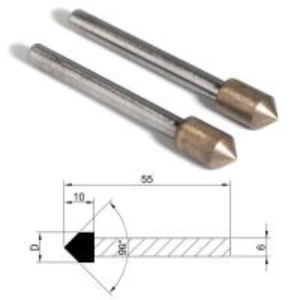 Quality Metal Bond Diamond Grinding Points Bullets Shape Head For Glass Ceramic Agate wholesale