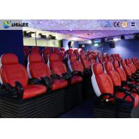 Quality Fiberglass / Genuine Leather 5D Cinema Movies Theater With Pneumatic System wholesale