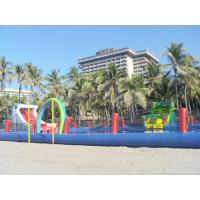 Quality Durable Inflatable Water Park Slides With Big Pool For Beach Or Hotel wholesale