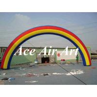 Quality custom beautiful commercial inflatable rainbow arch balloon for event party decoration wholesale