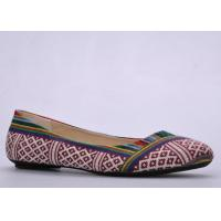 Quality Canvas Womens Ballerina Flats , TPR Bow Soft Footwear wholesale