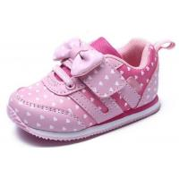 Quality Soft Bottom Pink Little Kids Shoes Baby Girl Shoes Breathable EUR 21-25 Size wholesale