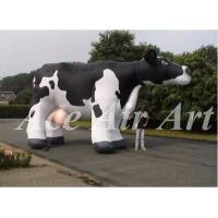 Quality custom giant beautiful advertising inflatable milk cow for farm wholesale
