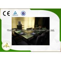 Quality Green Light Glass Table Commercial Teppanyaki Grill Electric Steel Frame Customized wholesale