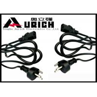 China Replacement Denmark Computer Monitor Power Cord 3 Round Pin Low Profile on sale