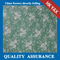 China YAX China supplier wholesale High quality bridal lace fabric with ivory color scalloped edge on sale