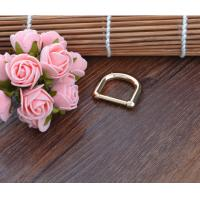 China Strap Iron Metal D Ring Hardware Buckle , Small Metal Buckles For Nylon Webbing on sale
