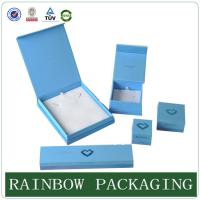 Quality Custom Size Sky Blue Jewelly Case , Grazioso Cardboard Box for Jewelly Box wholesale