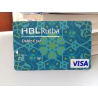 Cheap Plastic Debit Card / VISA Smart Card with Secured VISA Hologram Label for sale