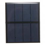 5V 0.5W Epoxy Mini Solar Panels Black Color PET/ETFE Material Mono Solar Cell