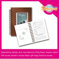 China Spiral Binding Book / Coloring Hardcover Book Printing with 50gsm - 300gsm White / Brown Kraft Paper on sale