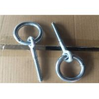 China Zinc Plated Fasteners Forged Eye Bolts / Eye Bolt With Ring Wood Thread Lag Screw on sale