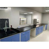 Quality 1.5*3*0.85m Steel Lab Furniture With Drawers For Science Projects Experiments wholesale