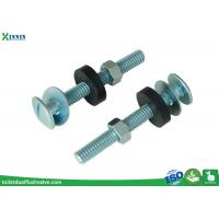 Quality Zinc Plated Toilet Tank To Bowl Bolts / Toilet Fixing Bolts Slot Headed wholesale