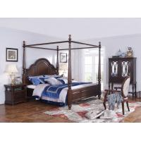 Quality Palatial Villa House Bedroom Furniture set Classic Wooden King size Bed with Grand Night table with Decoration display wholesale