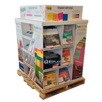Quality Portable Large Corrugated Cardboard Pallet Display Shelf For Stationery wholesale
