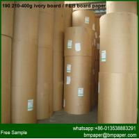 China one side coated paper white cardboard cake boxes paper for paper bag box making on sale