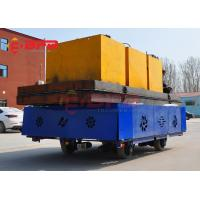 China 30 ton battery material handling trolley industrial motorized carts solution on sale