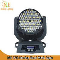 Quality 3 in 1 RGBW LED Stage Light dj effect light 108x3w led moving head wash stage light supply wholesale