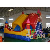 Quality 0.55 mm PVC Toddler Bounce House , Kids Inflatable Bounce House With Slide Inflatable Slide wholesale